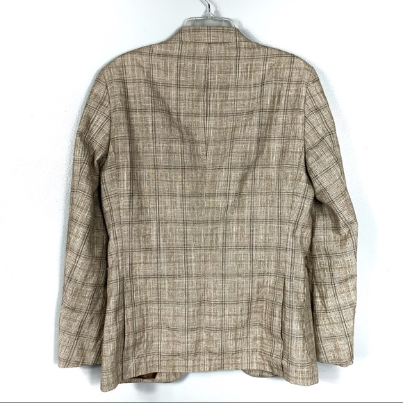 hugo boss suits blazers new brown striped blazer size. Black Bedroom Furniture Sets. Home Design Ideas